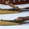 Kožený pásek s dřevěnou sponou